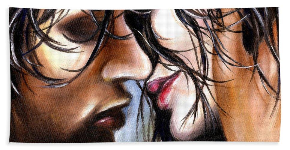 Lovers Bath Towel featuring the painting June Breeze by Hiroko Sakai
