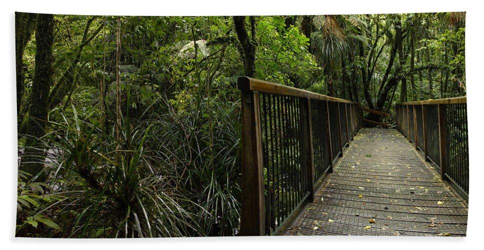 Bridge Bath Sheet featuring the photograph Jungle Bridge by Les Cunliffe