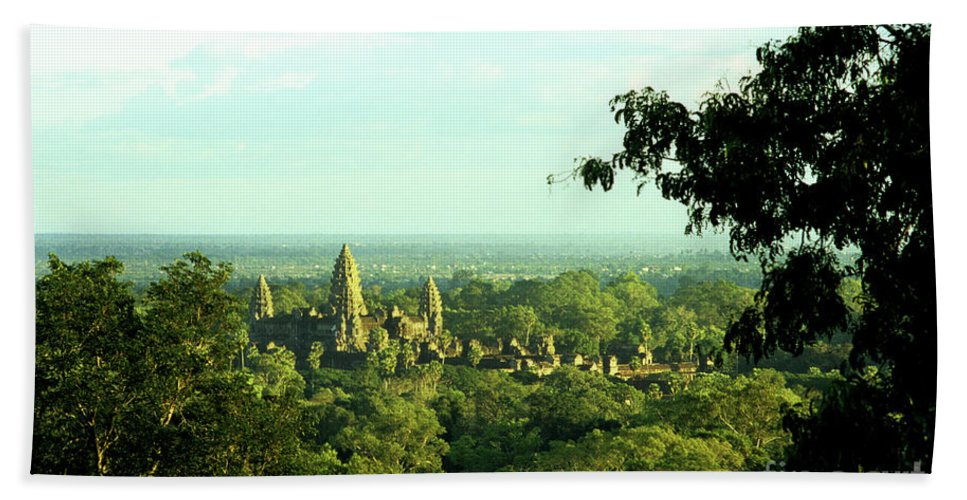 Cambodia Bath Sheet featuring the photograph Jungle Temple 01 by Rick Piper Photography