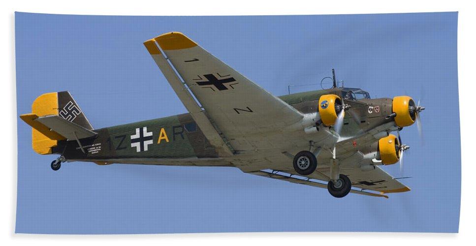 3scape Bath Sheet featuring the photograph Junkers Ju-52 by Adam Romanowicz