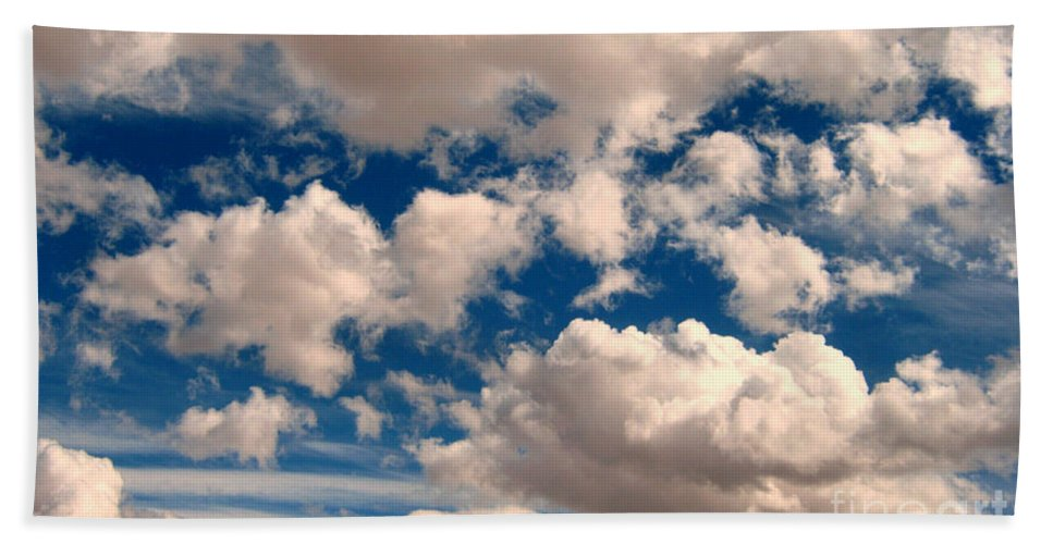 Sky Bath Sheet featuring the photograph Just A Face In The Clouds by Janice Westerberg