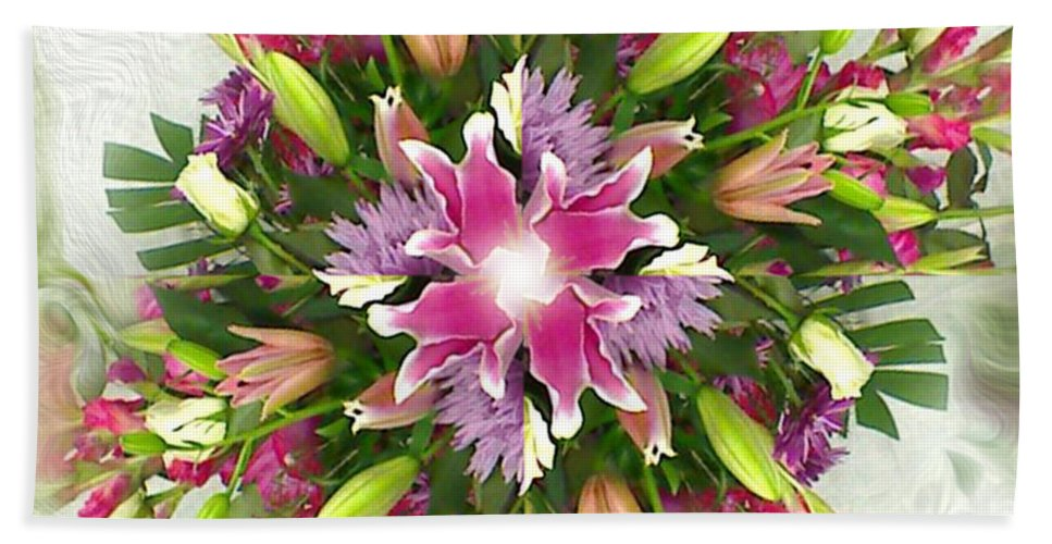 Floral Hand Towel featuring the digital art Old Fashion by Dana Haynes