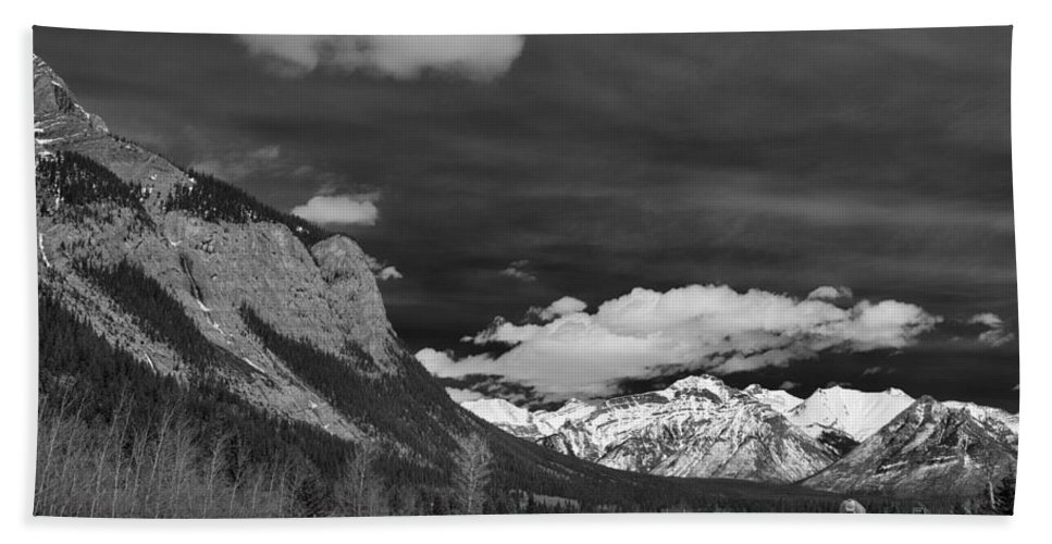 Alberta Hand Towel featuring the photograph Just Before Banff by Guy Whiteley