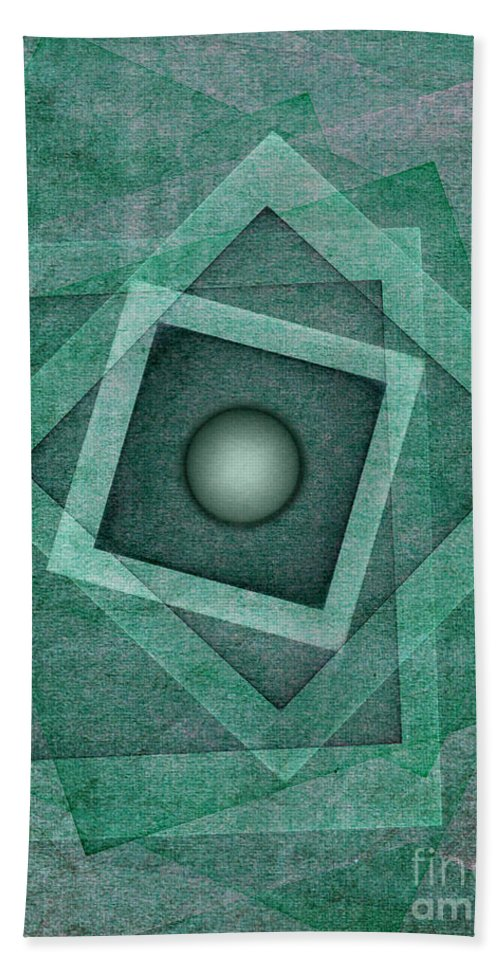 Abstract Bath Sheet featuring the digital art Just One by Klara Acel