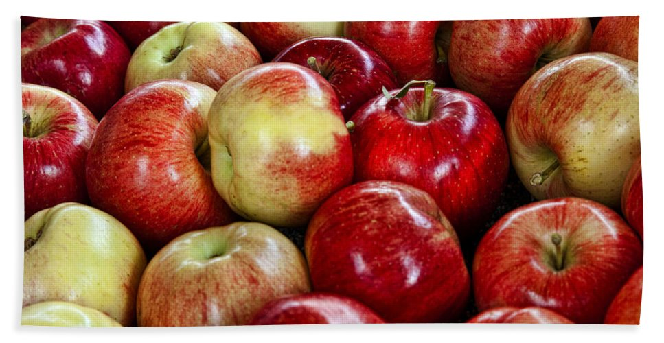 Apples Hand Towel featuring the photograph Just Picked by Diana Powell
