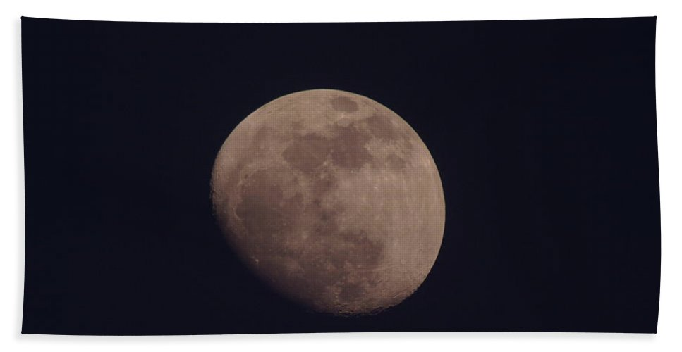 Moon Hand Towel featuring the photograph Just The Moon by Jeff Swan