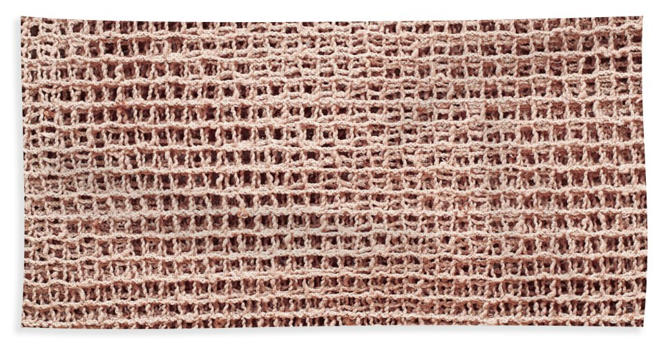 Abstract Hand Towel featuring the photograph Jute Background by Tom Gowanlock