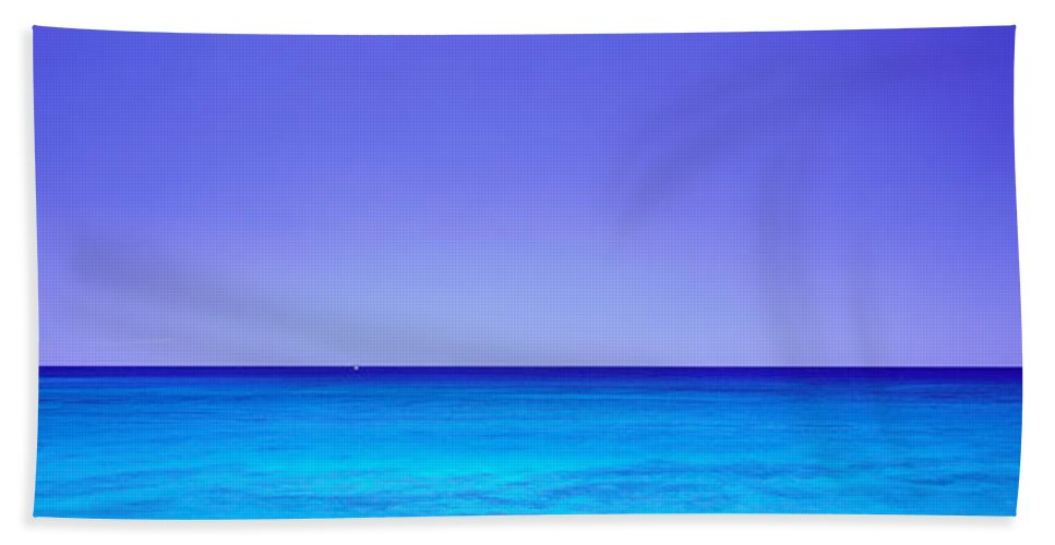 Photography Bath Sheet featuring the photograph Kahe Point Beach Park Oahu Hi by Panoramic Images