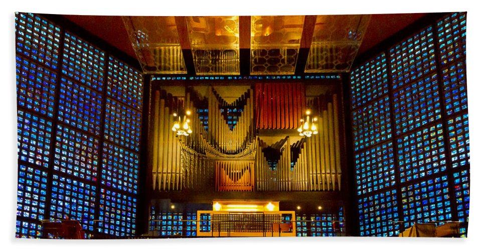 Jenny Setchell Bath Sheet featuring the photograph Kaiser Wilhelm Church Organ by Jenny Setchell