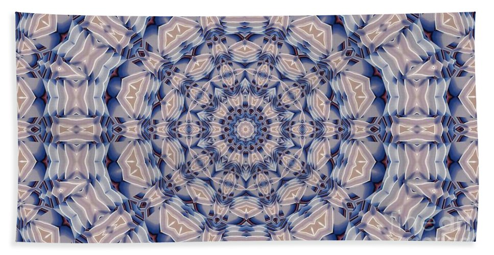 Kaleidoscope Bath Sheet featuring the digital art Kaleidoscope 19 by Ron Bissett