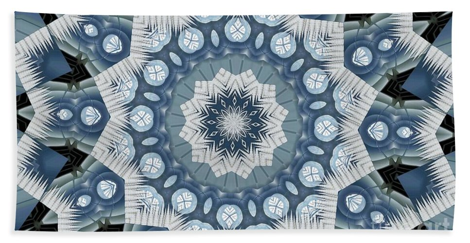 Tombstone Hand Towel featuring the digital art Kaleidoscope 26 by Ron Bissett