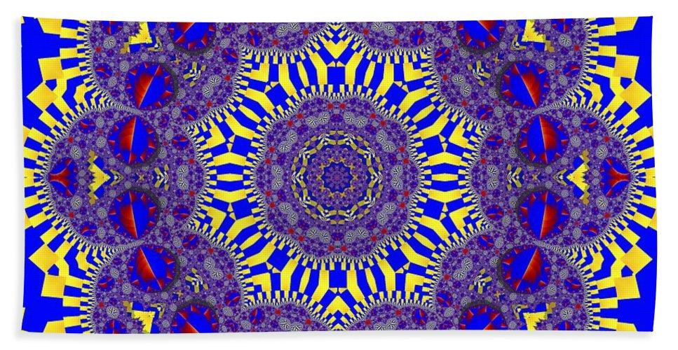 Kaleidoscope Bath Sheet featuring the photograph Kaleidoscope 33 by Ron Bissett