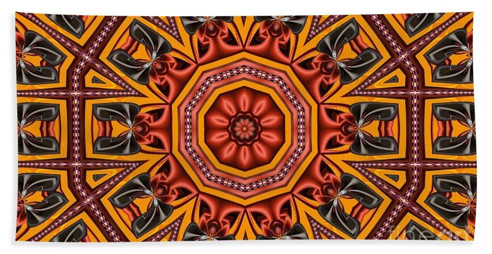 Kaleidoscope Hand Towel featuring the digital art Kaleidoscope 39 by Ron Bissett