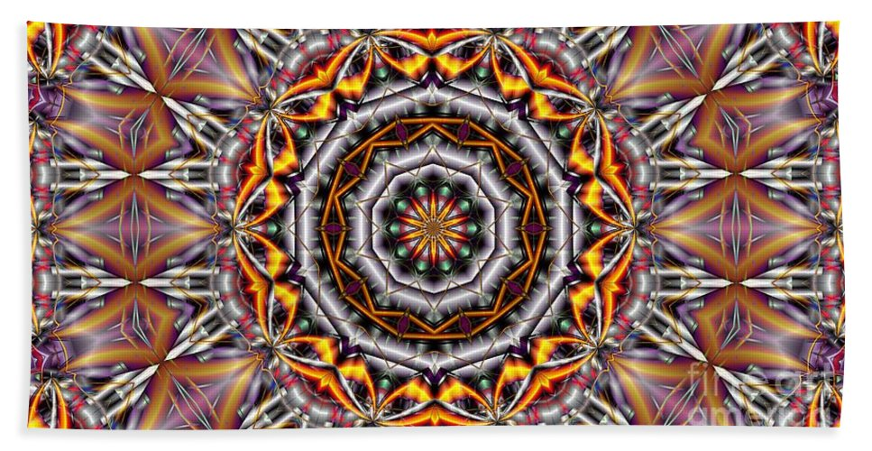 Kaleidoscope Bath Towel featuring the digital art Kaleidoscope 41 by Ron Bissett