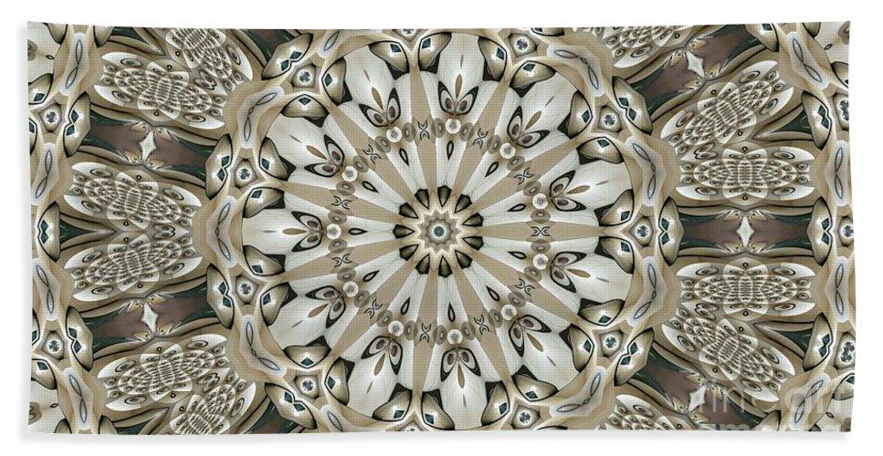 Kaleidoscope Hand Towel featuring the digital art Kaleidoscope 53 by Ron Bissett