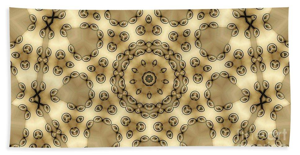 Kaleidoscope Hand Towel featuring the digital art Kaleidoscope 55 by Ron Bissett