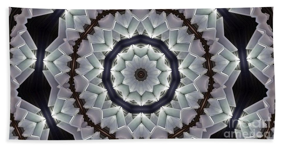 Kaleidoscope Hand Towel featuring the photograph Kaleidoscope 63 by Ron Bissett