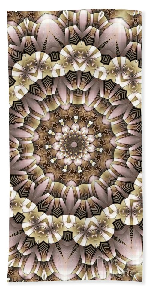 Kaleidoscope Bath Towel featuring the digital art Kaleidoscope 65 by Ron Bissett