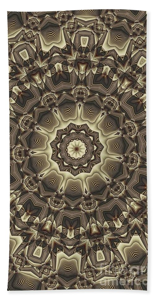 Kaleidoscope Hand Towel featuring the digital art Kaleidoscope 66 by Ron Bissett