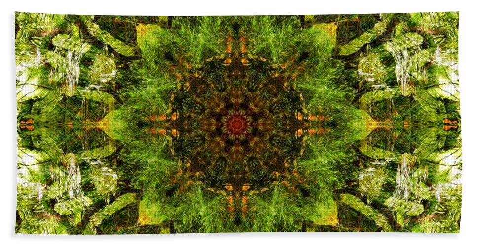 Kaleidoscope Bath Sheet featuring the digital art Kaleidoscope by FL collection