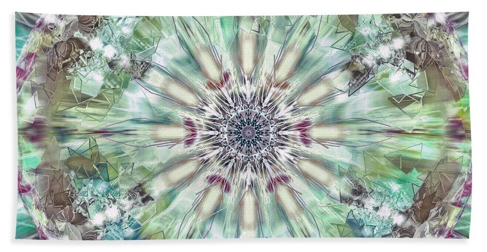 Kaleidoscope Bath Sheet featuring the digital art Kaleidoscope by Savannah Gibbs