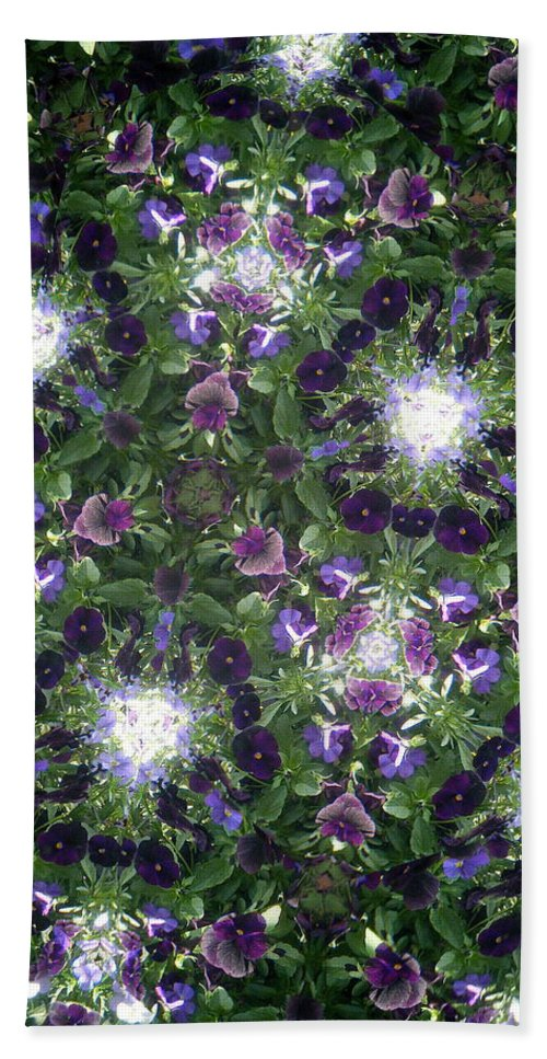 Violets Bath Sheet featuring the photograph Kaleidoscope Violets 2 by April Patterson