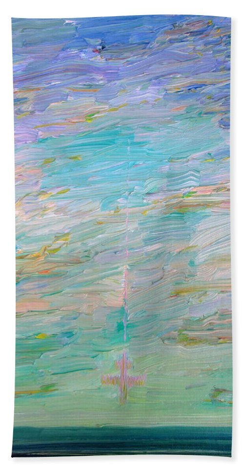 Sea Hand Towel featuring the painting Kamikaze by Fabrizio Cassetta