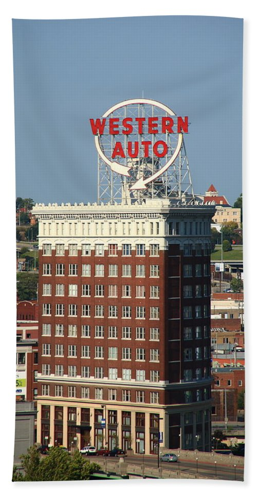 America Hand Towel featuring the photograph Kansas City - Western Auto Building 2 by Frank Romeo