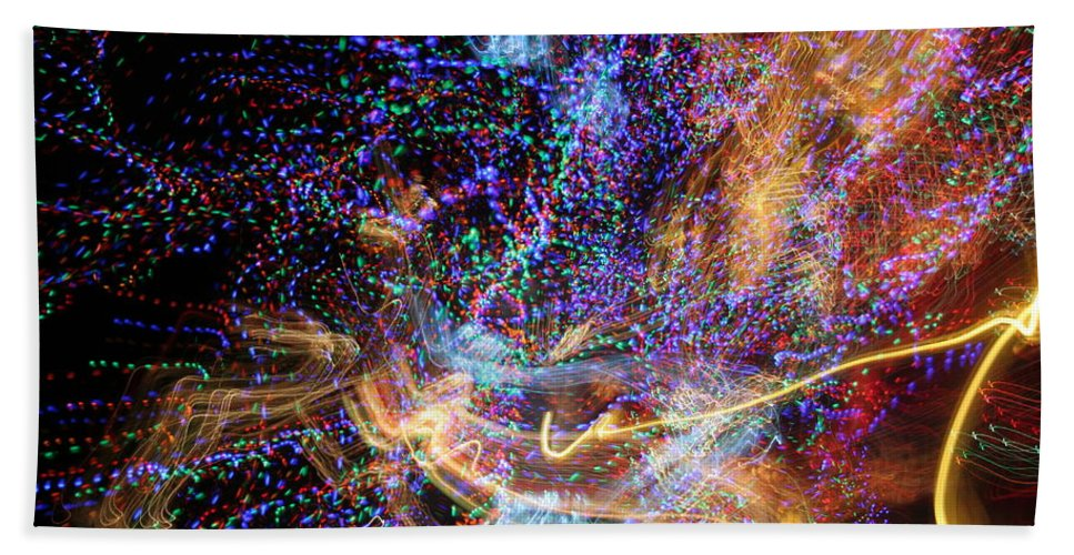 Abstract Hand Towel featuring the photograph Kapow by Ric Bascobert