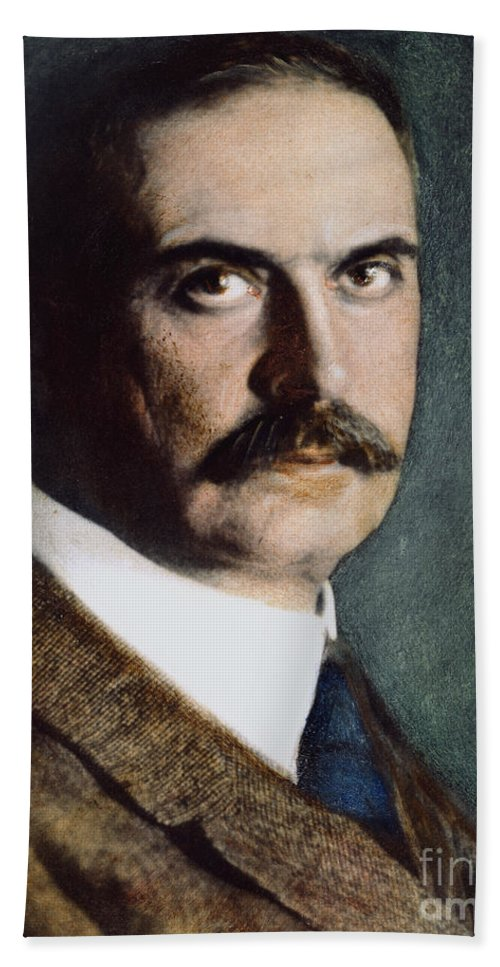 19th Century Bath Sheet featuring the photograph Karl Landsteiner (1868-1943) by Granger