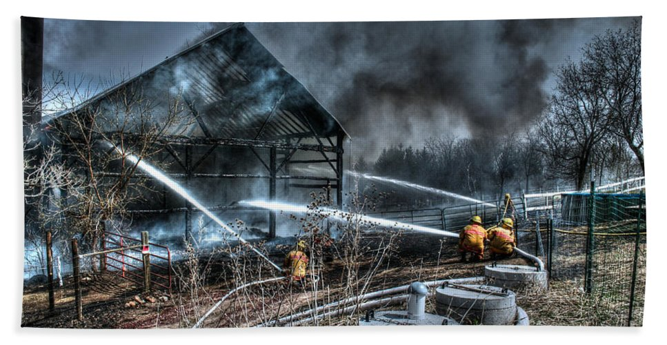 Fire Bath Sheet featuring the photograph Keep Fire In Your Life No 9 by Tommy Anderson
