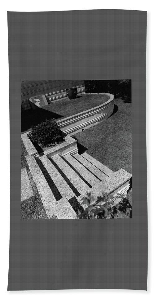 Exterior Hand Towel featuring the photograph Kenneth Kassler's Garden by Robert M. Damora