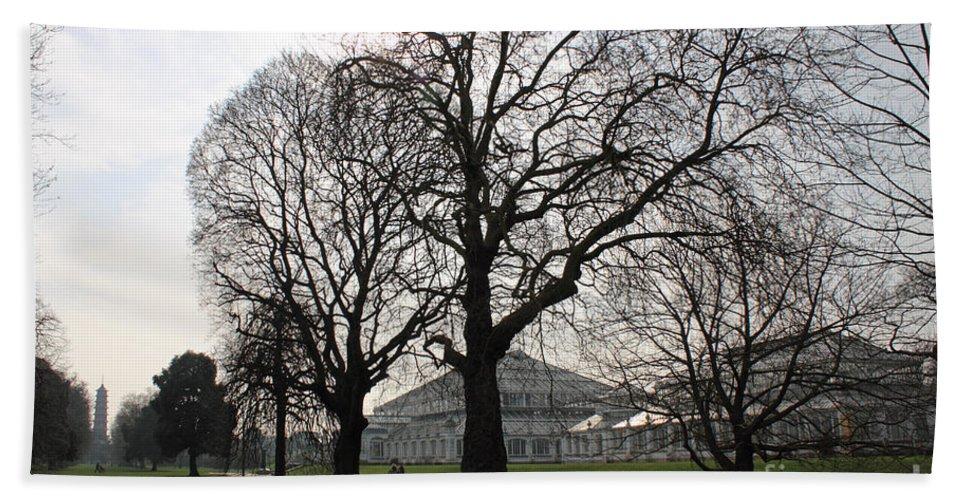 Kew Garden London Hand Towel featuring the photograph Kew Garden London by Julia Gavin
