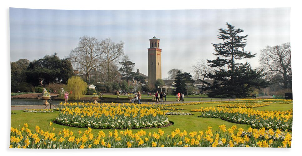 Kew Gardens London Hand Towel featuring the photograph Kew Gardens London by Julia Gavin