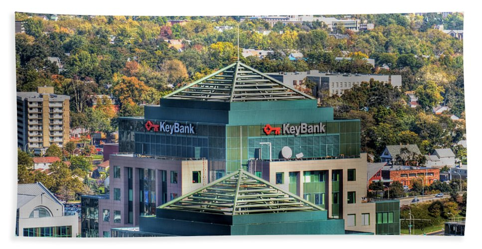 Key Bank Bath Sheet featuring the photograph Key Bank Autumn 2013 by Michael Frank Jr