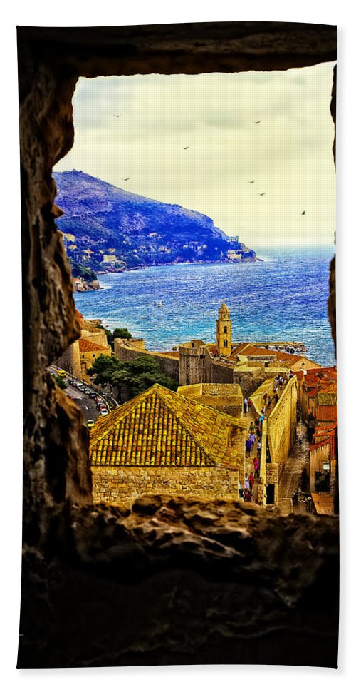 City Bath Towel featuring the photograph Key Hole View Of Dubrovnik 2 by Madeline Ellis