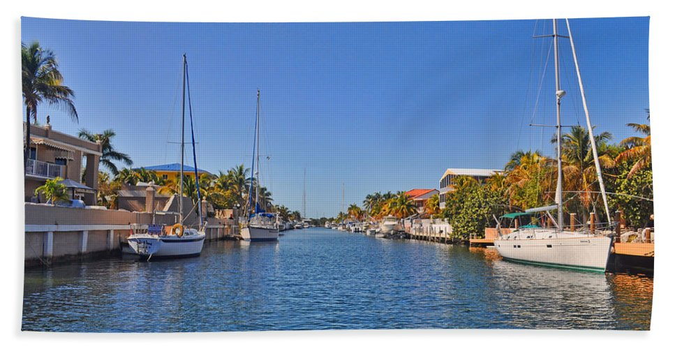 Key Largo Bath Sheet featuring the photograph Key Largo Canal 3 by Chris Thaxter