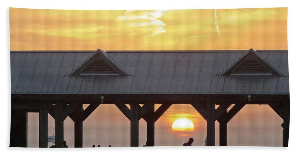 Key West Sunset Hand Towel featuring the photograph Key West Fl 46 by Jeff Brunton