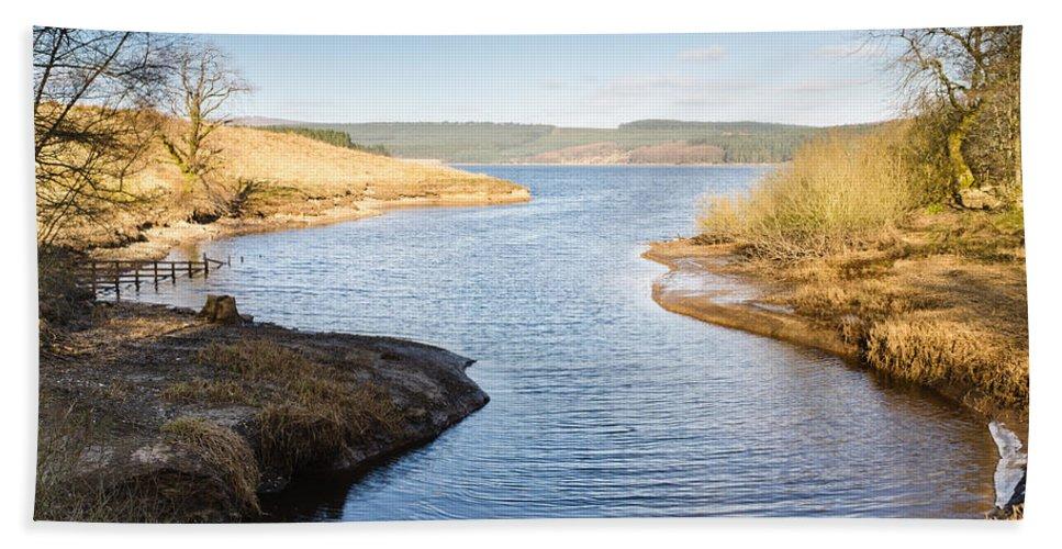 Northumberland Bath Sheet featuring the photograph Kielder Water Inlet by David Head