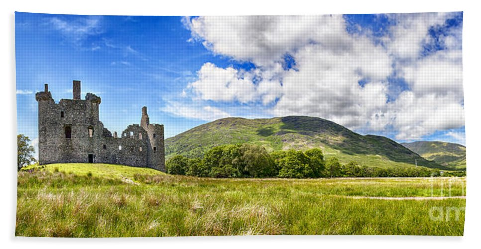 Loch Awe Hand Towel featuring the photograph Kilchurn Castle Ruin by Sophie McAulay