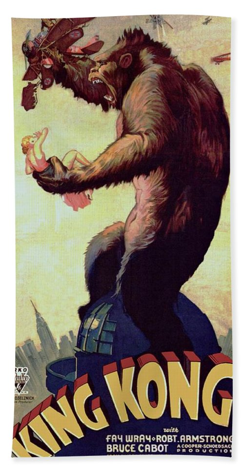 King Kong Bath Sheet featuring the photograph King Kong by Movie Poster Prints