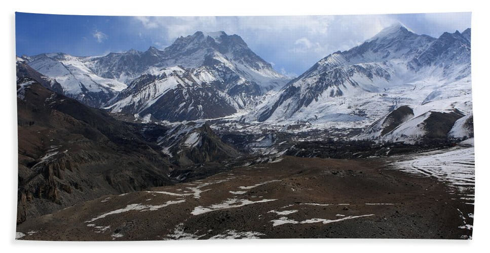 Nepal Hand Towel featuring the photograph Kingdom Of Mustang - Nepal by Aidan Moran