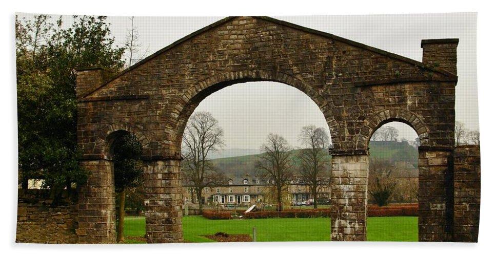 Kendal Bath Sheet featuring the photograph Kirklands Gateway Kendal by Joan-Violet Stretch