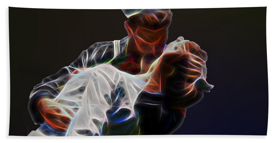 People Bath Sheet featuring the photograph Kiss by Tom Gari Gallery-Three-Photography