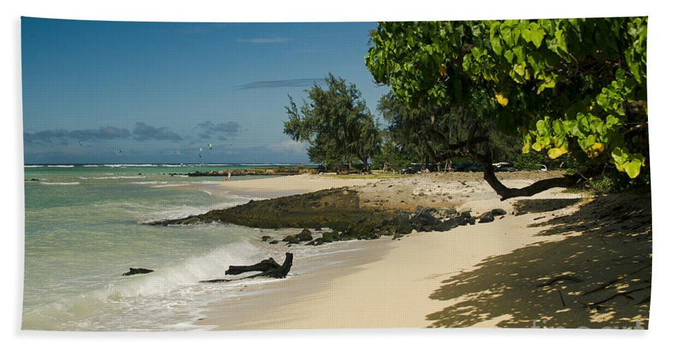 Kite Beach Bath Sheet featuring the photograph Kite Beach Kanaha Beach Maui Hawaii by Sharon Mau