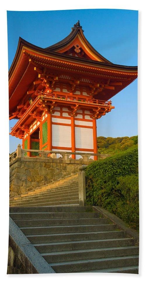Pagoda Hand Towel featuring the photograph Kiyomizudera Temple by Sebastian Musial