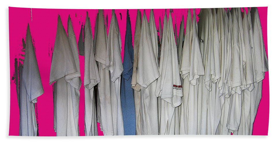 Klan Costumes Casa Grande Arizona 2005 Color Added Bath Sheet featuring the photograph Klan Costumes Casa Grande Arizona 2005-2012 by David Lee Guss