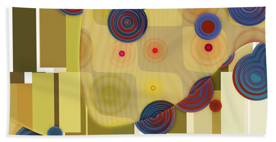 Abstract Bath Sheet featuring the digital art Klimtolli - 22 by Variance Collections