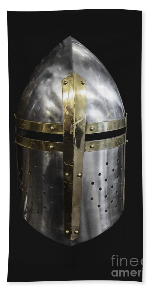 Helmet Bath Sheet featuring the photograph Knight In Shining Armor by Margie Hurwich