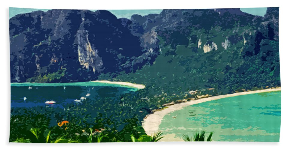 Asien Bath Sheet featuring the photograph Koh Phi Phi ... by Juergen Weiss